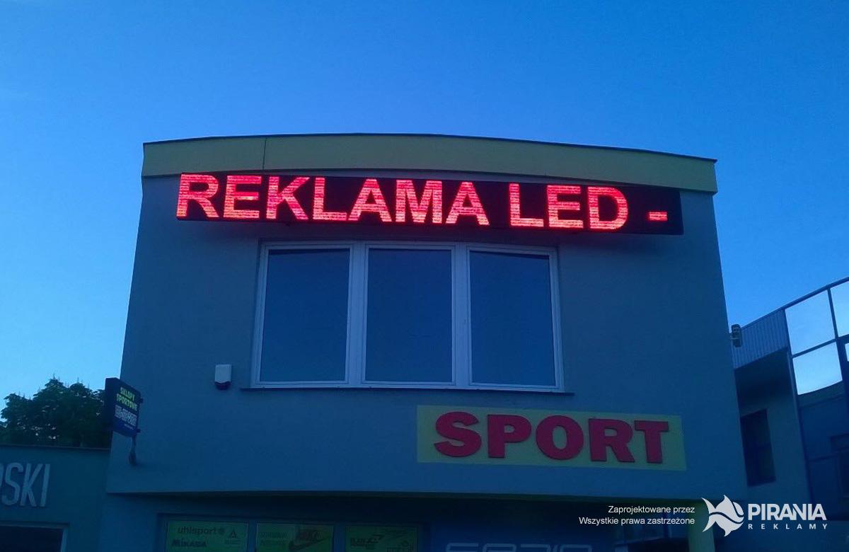Modernistyczne PIRANIA Reklamy - Wyświetlacze LED XG38